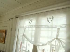 Shabby Chic Gardinen : heart blau raff gardine 100 120 140 160 cm breit shabby chic vintage curtain ebay ~ Eleganceandgraceweddings.com Haus und Dekorationen
