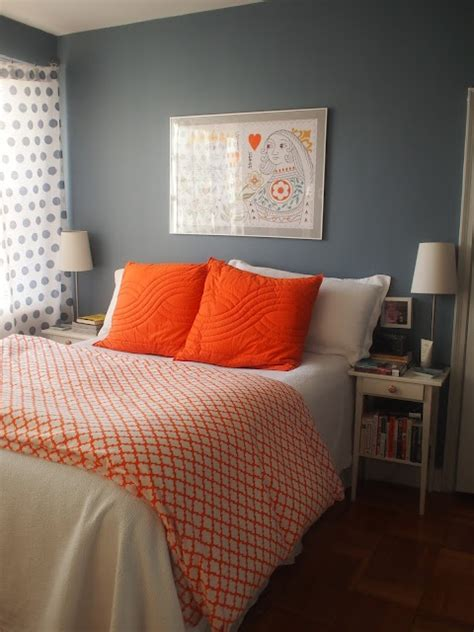 Blue And Orange Bedroom Ideas by Best 25 Grey Orange Bedroom Ideas On