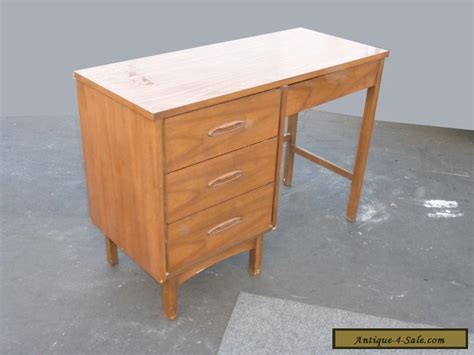 solid wood desk for sale vintage danish mid century modern style four drawer solid