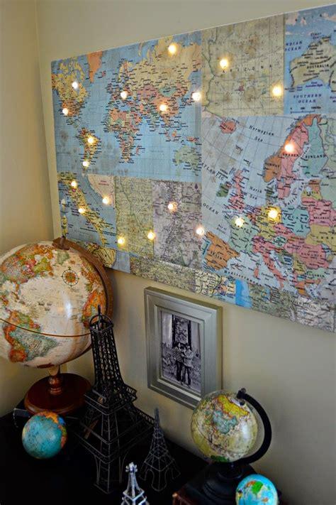 hazel ruby blog diy world map  lights