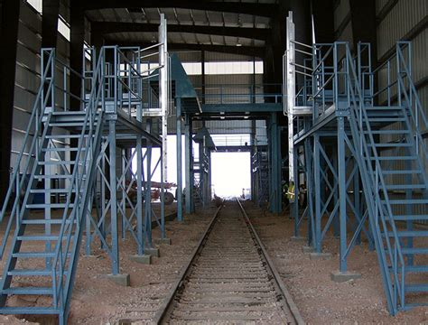 Loading dock stairs stlfamilylife tanker truck railcar loading platforms diversified fall protection publicscrutiny Gallery