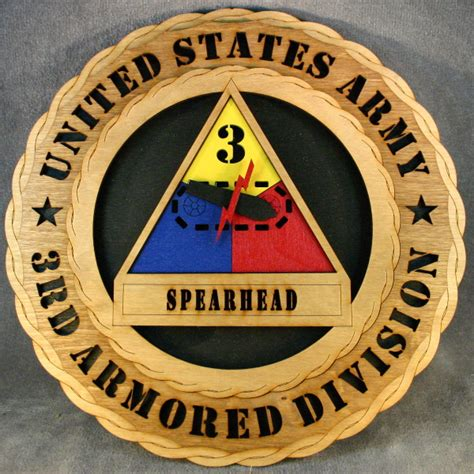 armored division wall tribute wtd  armored div  custom laser accents