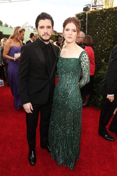 Kit Harington and Rose Leslie Attend the Golden Globes ...