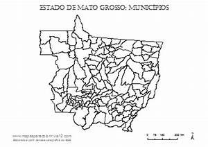 MAPA DE MATO GROSSO - Mapas para Colorir