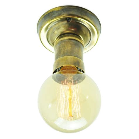 industrial low ceiling light fitting with vintage edison