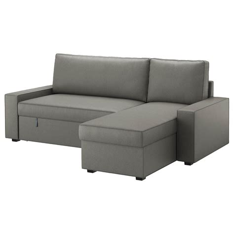 chaise en teck ikea vilasund sofa bed with chaise longue borred grey green ikea