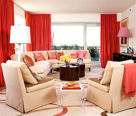 pink  orange decor feng shui interior design