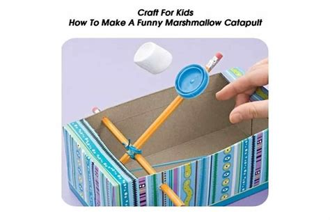 funny marshmallow catapult craft  kids