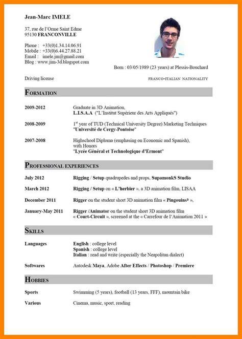 Best Curriculum Vitae Exles by 14 Curriculum Vitae Image Federacion Atletica Debolivia