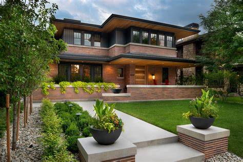 Frank Lloyd Wright Inspired House Plans Exterior Craftsman