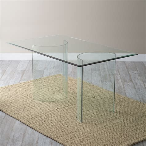 60 glass dining table radius corners 60 x 36 in rectangular glass top dining 7372