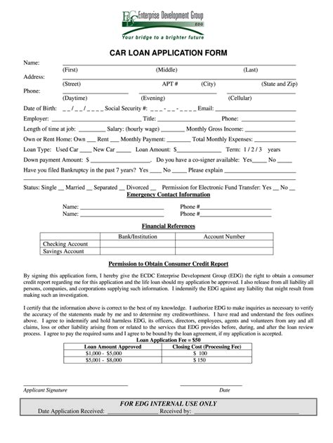 Auto Loan Application - Fill Out and Sign Printable PDF ...