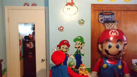 Logans Super Mario Themed Bedroom Youtube