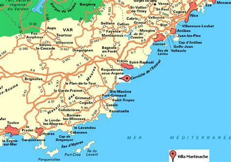 St Aygulf Var Carte by La Carte De La R 233 Gion Provence C 244 Te D Azur