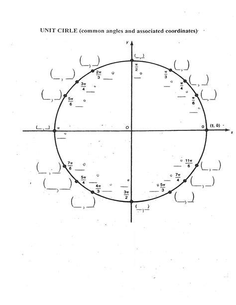 blank unit circle worksheet worksheets for all