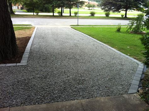 gravel driveway border gravel driveway with paver border mount vernon va yelp
