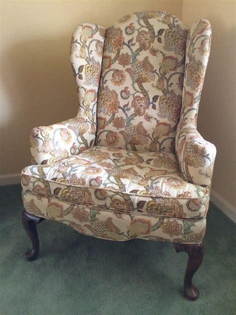 vintage ethan allen wingback chair vintage ethan allen wingback chair