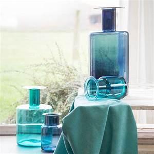 Vase Bleu Canard : vase design en verre bleu 50cm objets d co tendance bruno evrard ~ Melissatoandfro.com Idées de Décoration