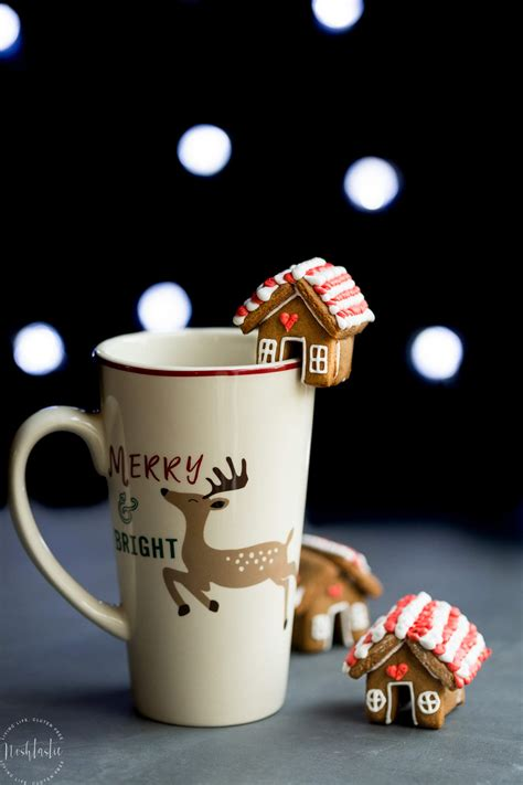 mini gingerbread house mug toppers gluten