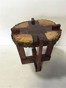 Log Slab Side Table or Coffee Table / by