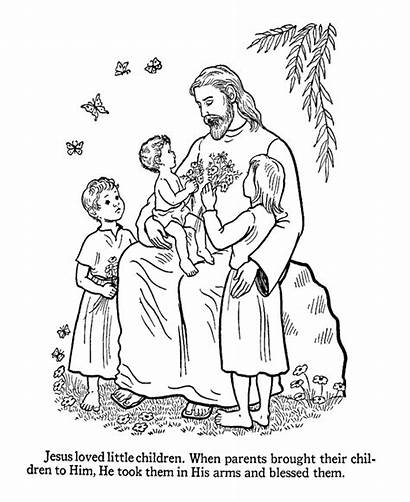 Jesus Coloring Pages Christ Children Getcoloringpages