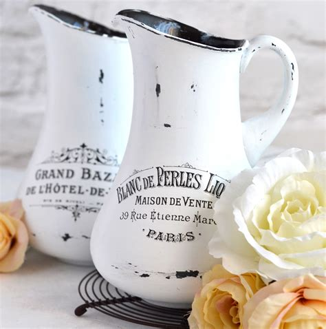 diy aged french pitchers  printable  graphics