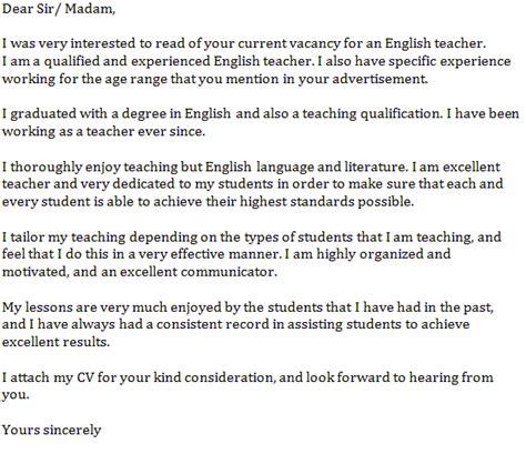 english teacher cover letter  learnistorg