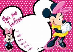 Minnie mouse party invitations templates filmwisefo