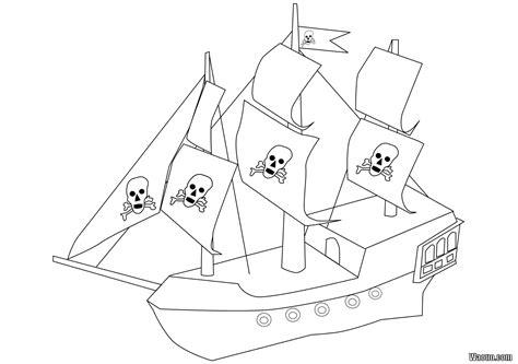 coloriage bateau pirate  imprimer  colorier