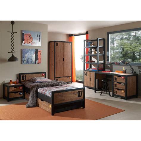 chambre complete chambre complète enfant 5p quot alex quot marron noir