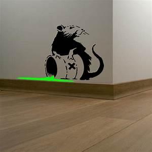 banksy toxic rat vinyl wall art sticker gbp199 blunt With banksy wall art