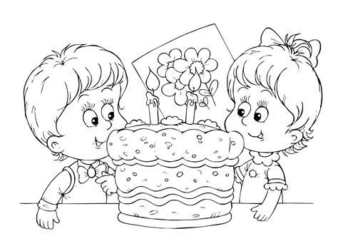 Kleurplaat Verjaardag Tante by Kleuren Nu Verjaardagstaart Met 2 Kaarsjes Kleurplaten