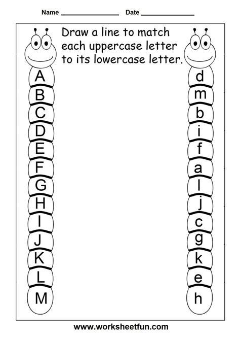 kindergarten review worksheets alphabet mrs ricca s