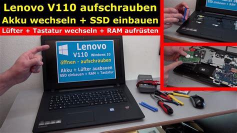 lenovo  notebook oeffnen akku ssd luefter tastatur