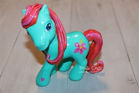 My Pony Decorate Your Own Pony Figure - doodlecraft diy custom my ponies