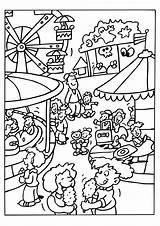 Coloring Amusement Theme Printable Getcolorings sketch template