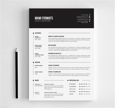 Clean Creative Resume Templates by Clean Cv Resume Resume Templates Creative Market