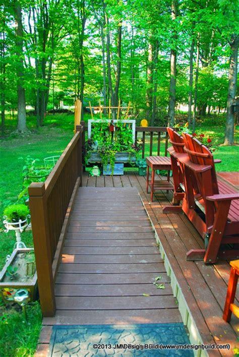 handicap accessible deck  ramp contemporary porch