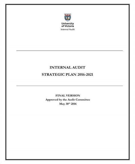 audit strategic plan templates  word