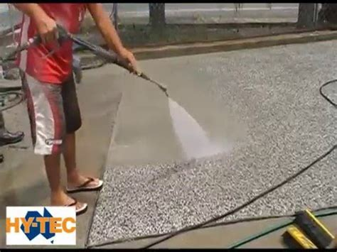 Hy-Tec Exposed Concrete using Rugasol - YouTube