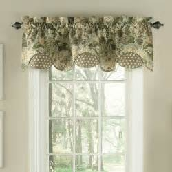 waverly garden scalloped floral curtain valance reviews wayfair
