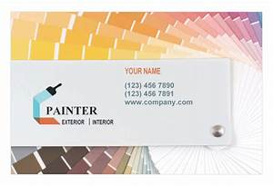 House painting contractor print template pack from serifcom for Painter business card template