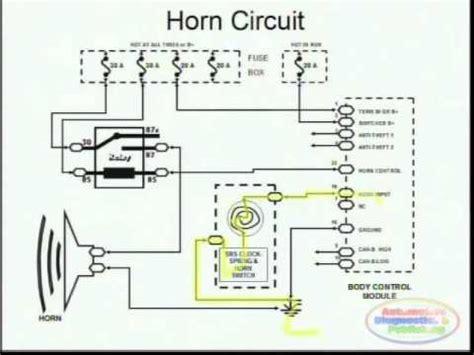 Horns Wiring Diagram Youtube