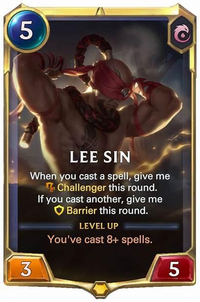 Sin Lee Legends Runeterra Card Cards Champion