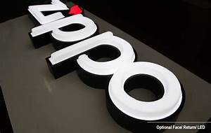 acrylic face lit channel letters for shop sign front with With channel letters materials