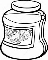 Jam Jar Cartoon Coloring Clipart Clip Strawberry Illustration Cookie Hand Drawing Vector Print Izakowski Glass Clipartpanda Getdrawings Drawings Space Pages sketch template