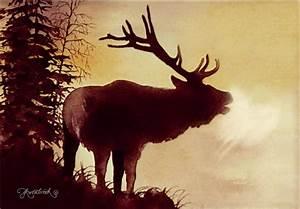 Elk Bugle Painting by Jill Westbrook