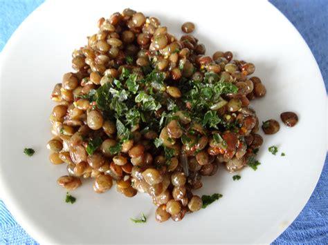 lentilles cuisiner salade de lentilles vertes du puy les recettes de donatienne