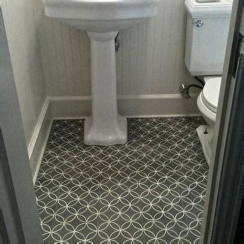 White and Gray Bathroom Floor Tile
