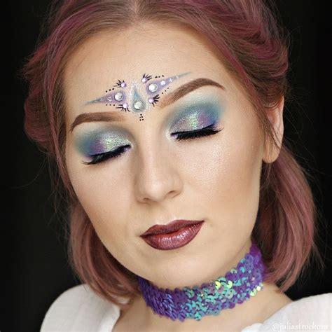 julias beauty garden purple blue green mermaid glitter